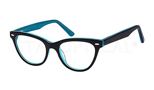 Staroptical - A108B (BLACK-CLEAR-TURQUOISE) [50-18]